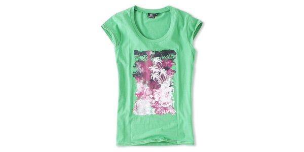 Dámské zelené tričko s potiskem Brunotti