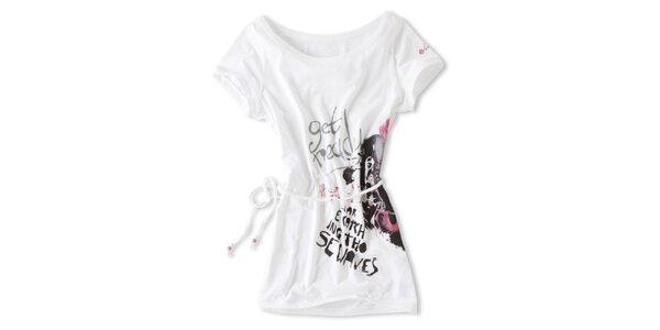 Dámské bílé tričko s tkaničkou Brunotti