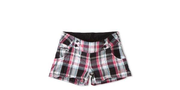 Dámské černo-růžově kostkované šortky Brunetti