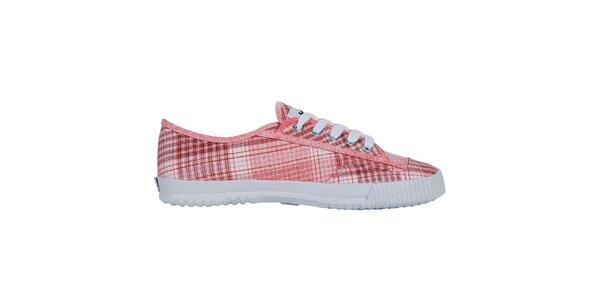Červeně kostkované nízké tenisky Shulong