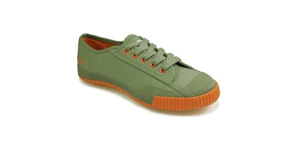 Oranžovo-zelené nízké tenisky Shulong