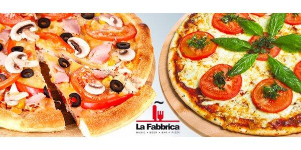 DVĚ báječné pizzy v La Fabbrice
