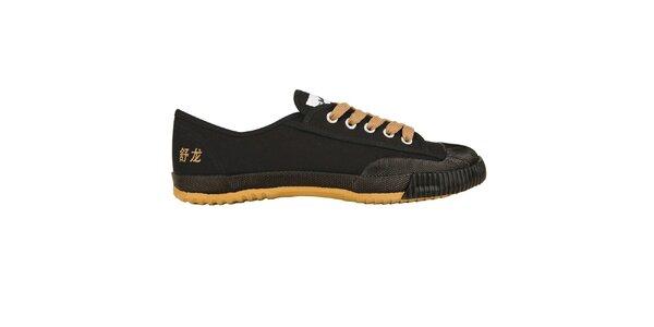 Dámské nízké černo-žluté tenisky Shulong