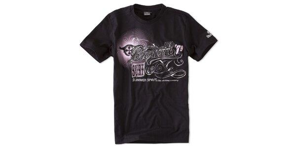 Pánská černé tričko Brunotti s potiskem
