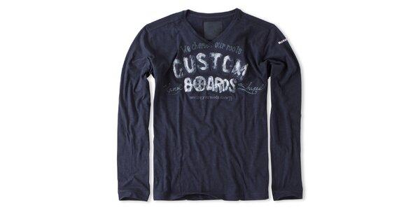 Pánské tmavě modré triko s potiskem Brunotti