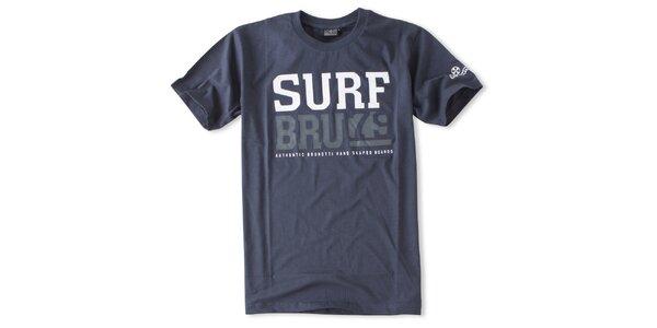 Pánské námořnicky modré tričko s nápisy Brunotti