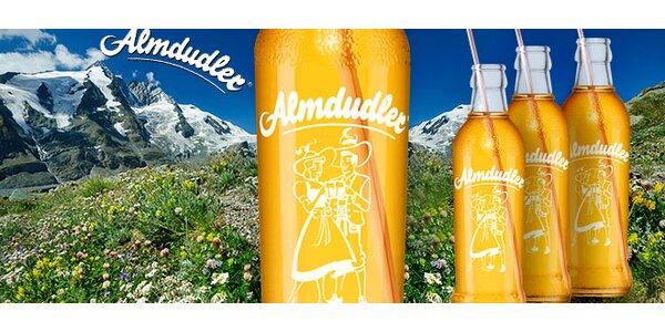 24 osvěžujících limonád Almdudler. Včetně dopravy