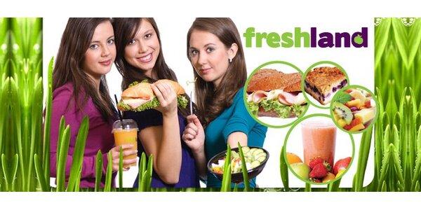 149 Kč za cokoli z nabídky 100% džusů, baget a dalších dobrot ve Freshland!