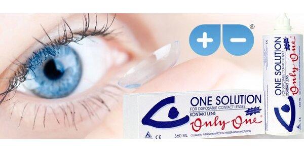 Dva roztoky pro údržbu kontaktních čoček