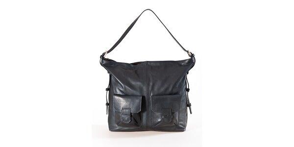 Dámská černá kabelka se dvěma kapsami Luisa Vannini