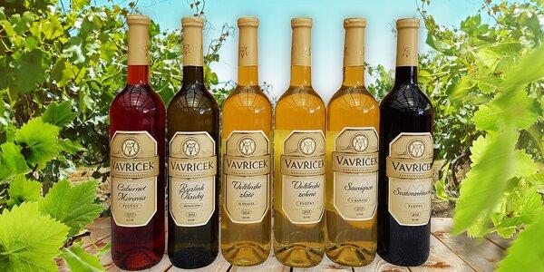 3 nebo 6 lahví vína z rodinného vinařství Vavříček