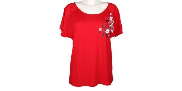 Dámské červené tričko Authority s potiskem