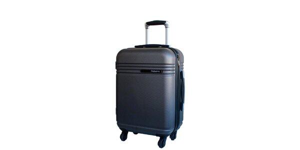 Šedý cestovní kufr na kolečkách Movom