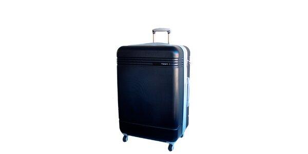 Tmavě modrý cestovní kufr na kolečkách Movom