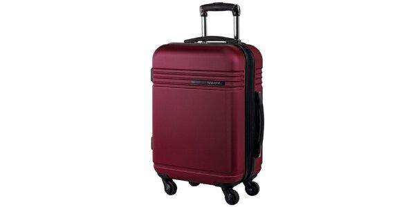 Vínový cestovní kufr na kolečkách Movom