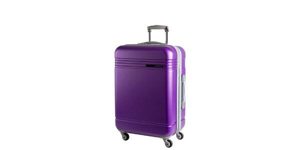 Fialový cestovní kufr na kolečkách Movom