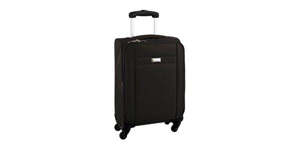 Černý cestovní kufr na kolečkách Movom