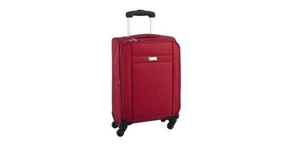 Červený cestovní kufr na kolečkách Movom
