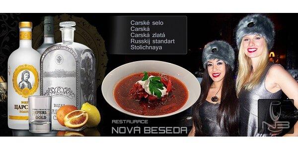 Ochutnávka té nejlepší ruské Carské vodky pro dvě osoby