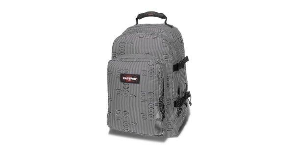 Černobílý proužkovaný batoh Eastpak