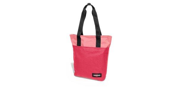 Dámská tmavě růžová taška Eastpak se světle růžovým pruhem