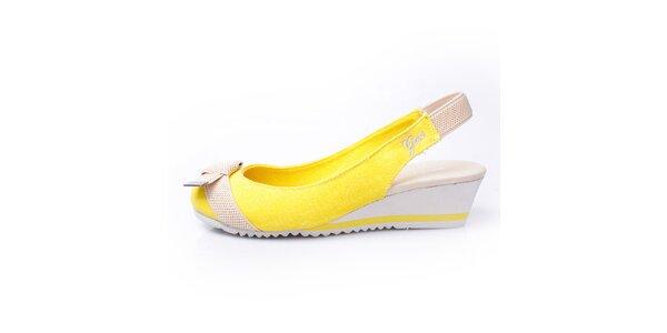Dámské žluto-béžové sandálky GAS