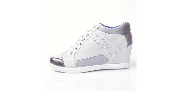 Dámské fialovo-bílé kotníkové tenisky GAS