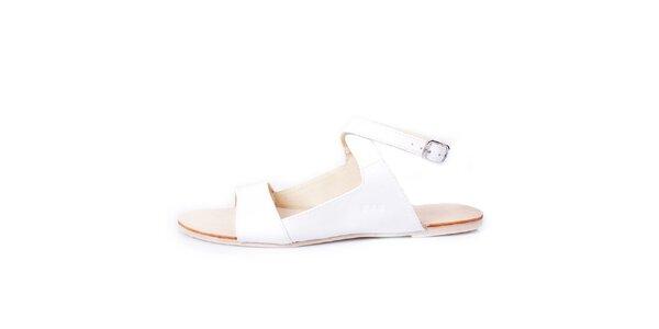 Dámské bílé kožené sandálky GAS