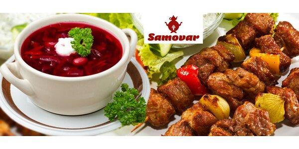 Tradiční ruská gastronomie v Samovaru