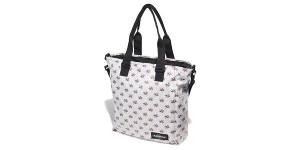 Dámská bílá taška Eastpak s červenými růžičkami a černými puntíky