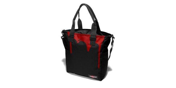 Dámská černá taška Eastpak s červeným potiskem