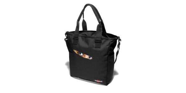 Dámská černá taška Eastpak s potiskem očí