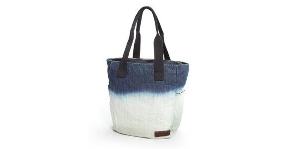 Dámská modrobílá denimová taška Eastpak
