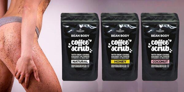 Pro zářivou pokožku: Santini kávový peeling