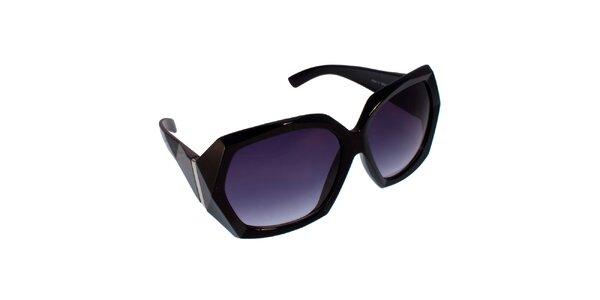 Dámské černo-fialové sluneční brýle s ostrými hranami Jeepers Peepers