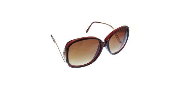 Dámské hnědé průsvitné brýle s nízkými nožičkami Jeepers Peepers