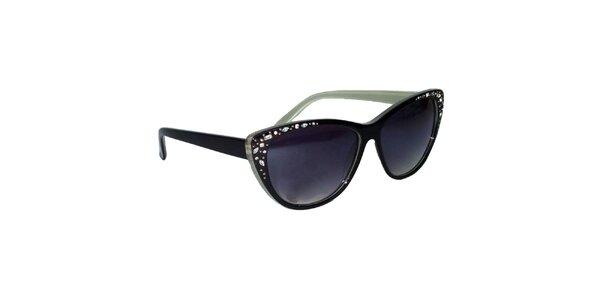 Dámské černé kočičí sluneční brýle Jeepers Peepers