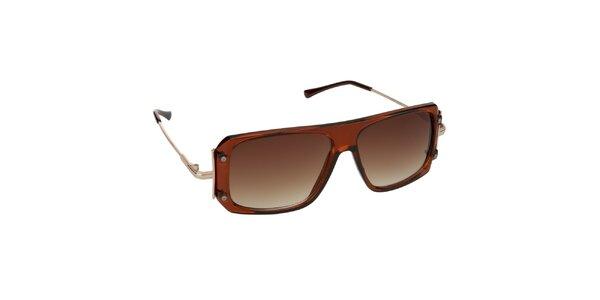 Dámské hnědé průsvitné brýle Jeepers Peepers