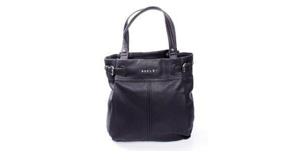 Dámská černá kabelka s výraznými švy Sisley