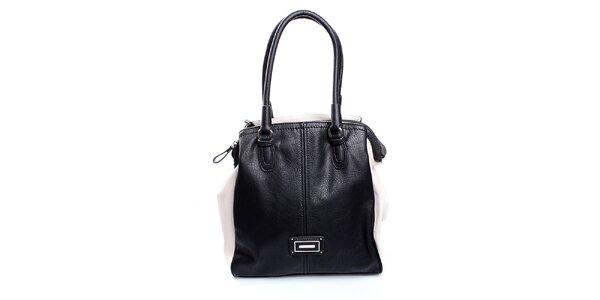 Dámská černo-krémová kabelka Sisley