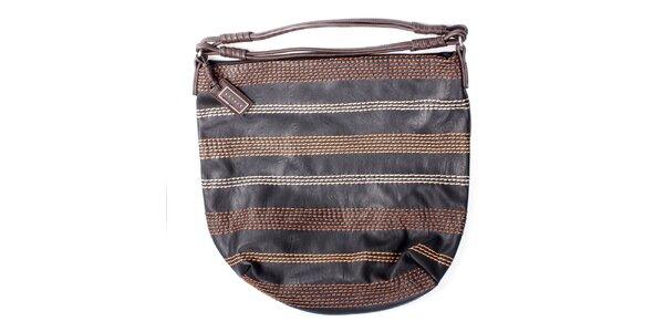 Dámská černá kabelka s prošíváním Sisley