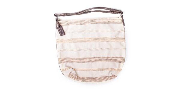 Dámská smetanová kabelka s prošíváním Sisley