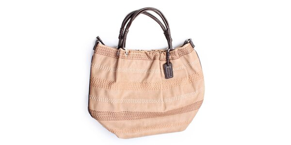 Dámská béžová kabelka s prošíváním Sisley