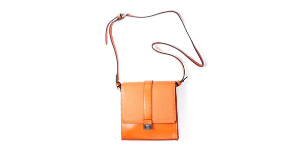 Dámská oranžová kufříková kabelka Sisley