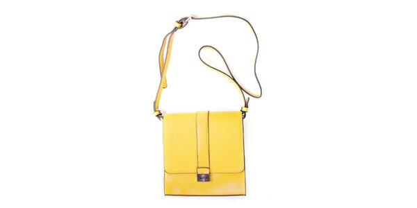 Dámská žlutá kufříková kabelka Sisley