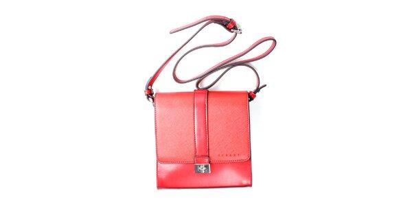 Dámská červená kufříková kabelka Sisley