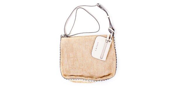 Dámská béžová kabelka s peněženkou Sisley