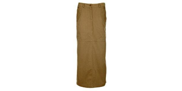 Dámská khaki dlouhá sukně Bushman