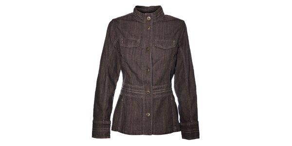 Dámský světle šedý džínový kabátek Bushman