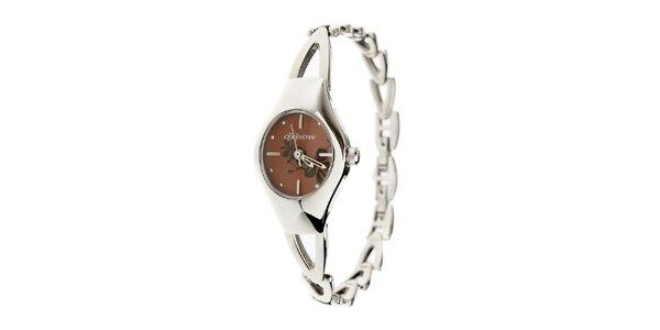 Dámské ocelové hodinky Oxbow s tmavě hnědým ciferníkem